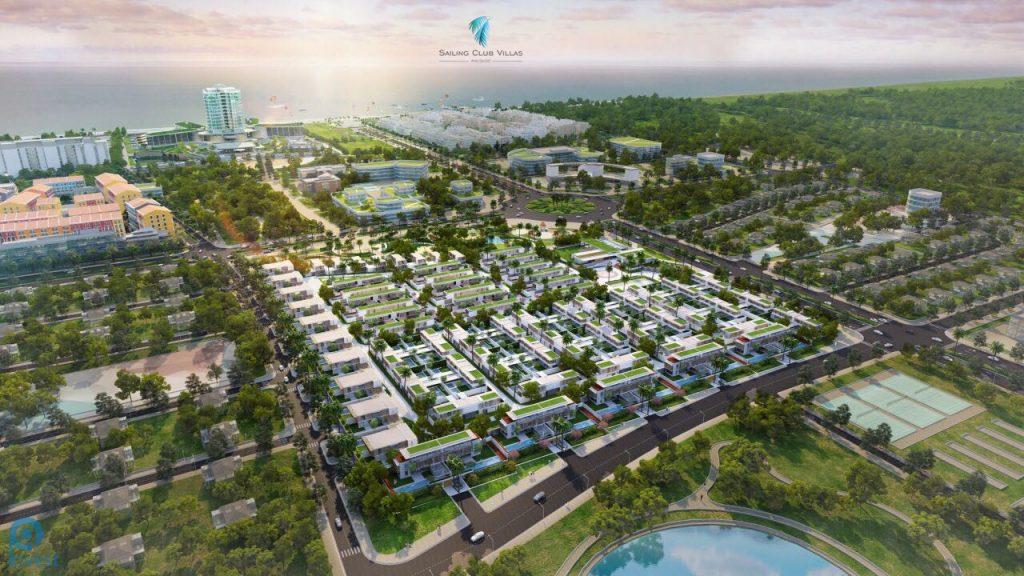 Phối cảnh tổng thể dự án Sailing Club Villas Phu Quoc