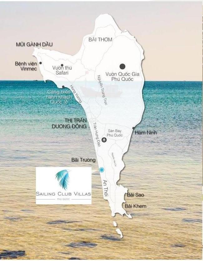 Bản đồ Sailing Club Villas Phu Quoc