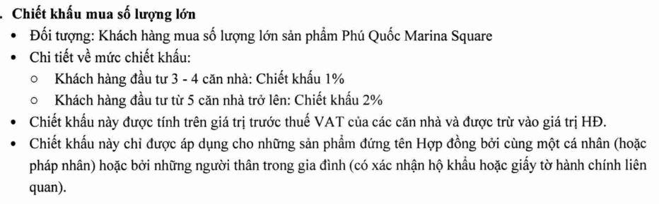 Chinh sach mua so luong lon Phu Quoc Marina Square