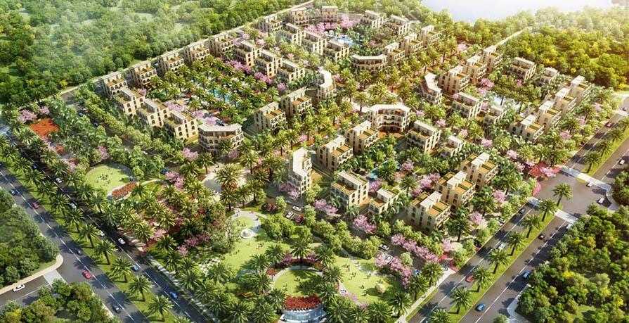Tổng thể dự án Palm Garden Shop Villas Phu Quoc