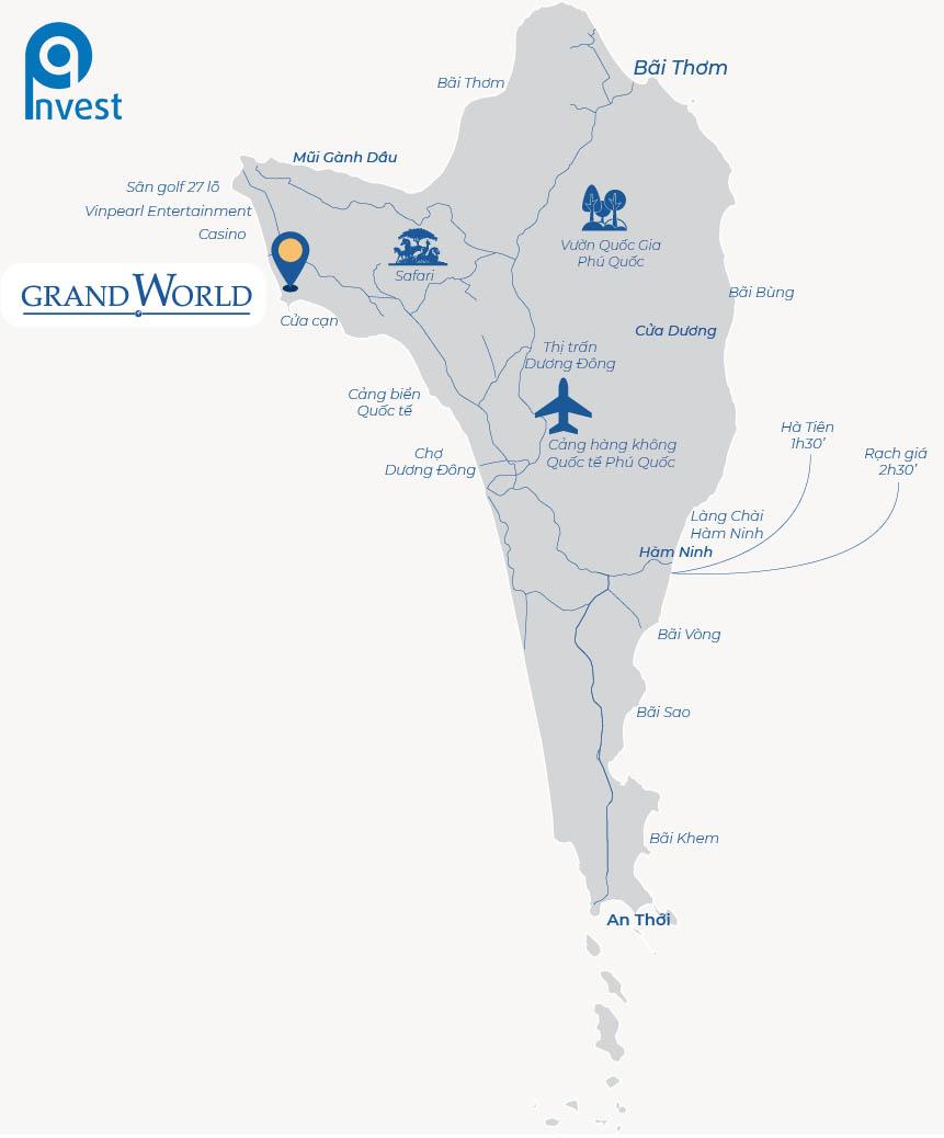 Bản đồ vị trí Grand World