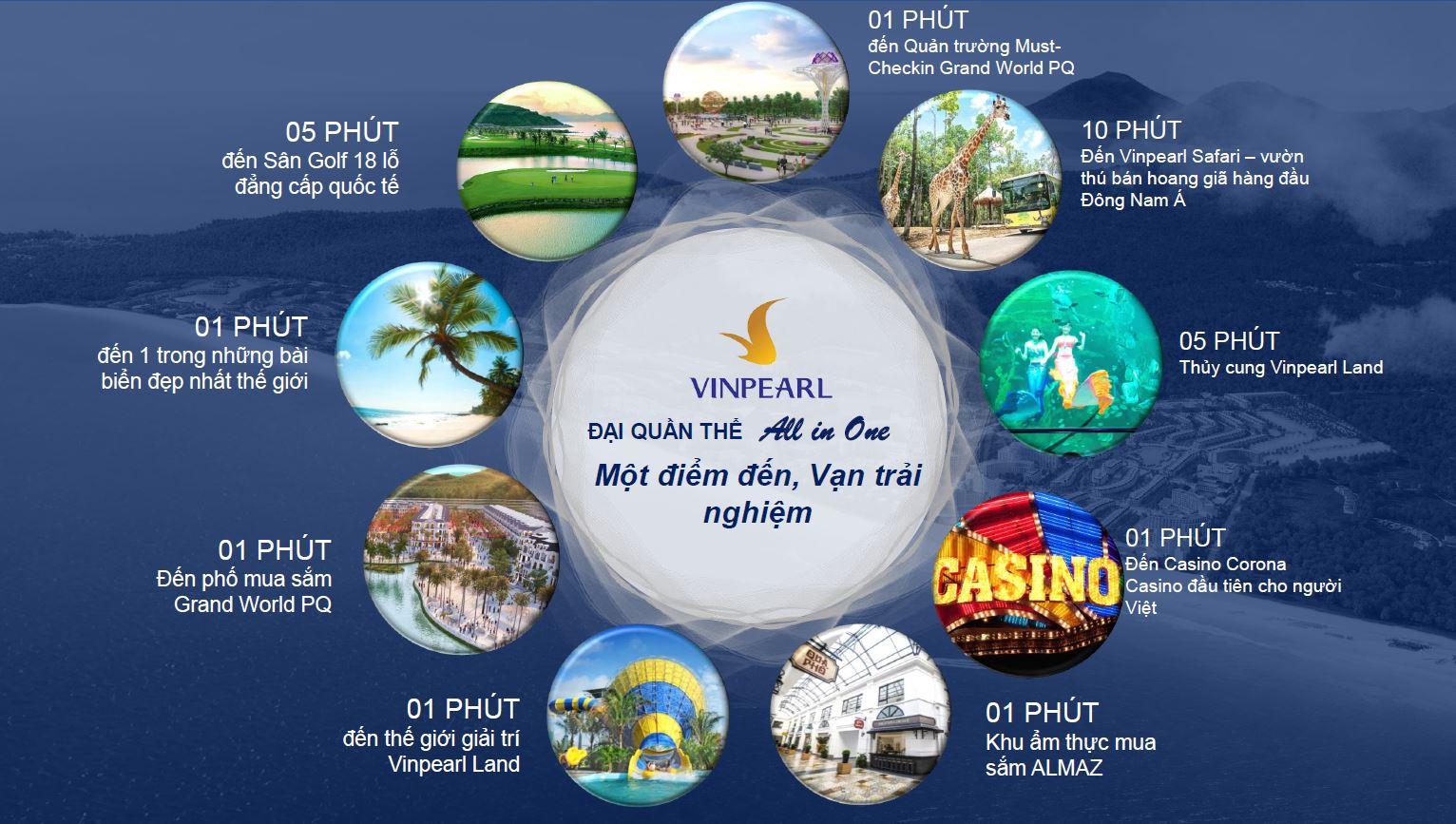 Tiện ích ngoại khu Condotel Grand World Vinpearl Phú Quốc