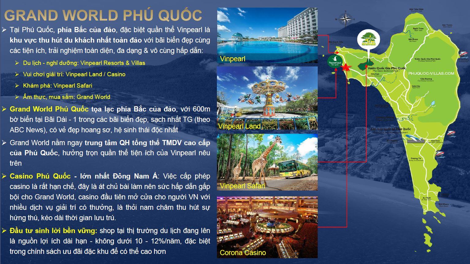 Vị trí Condotel Grand World Vinpearl Phú Quốc