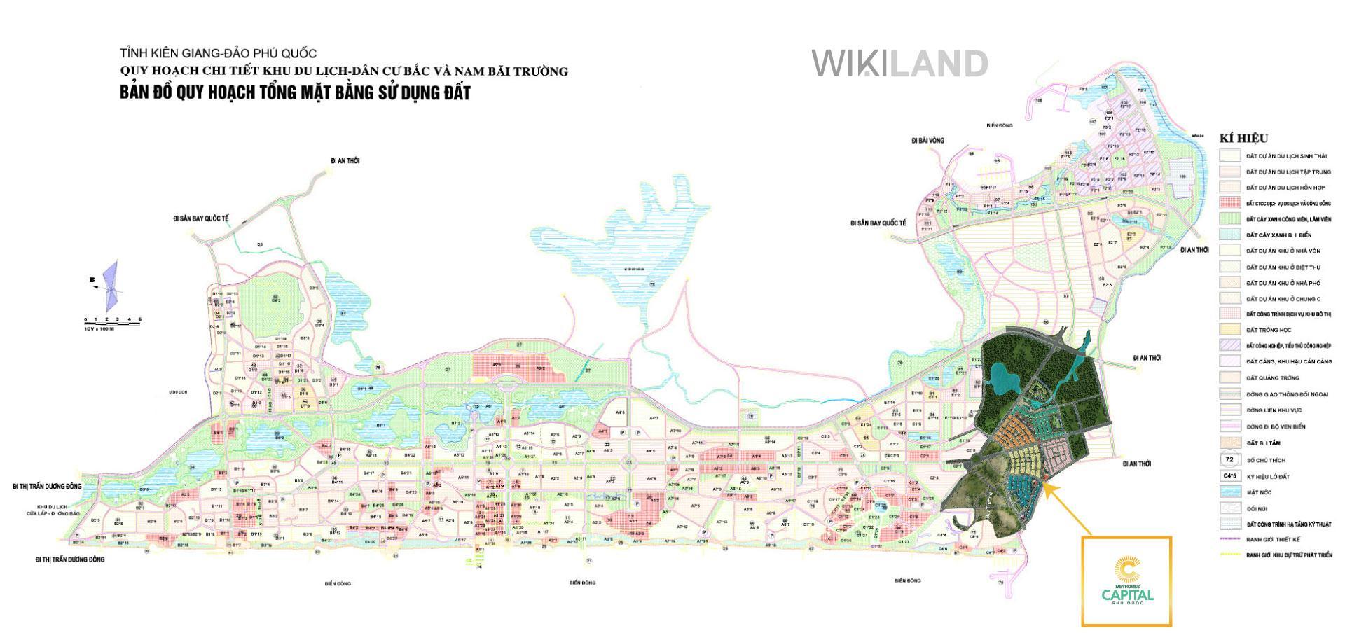 Bản đồ quy hoạch khu dân cư Nam Bãi Trường