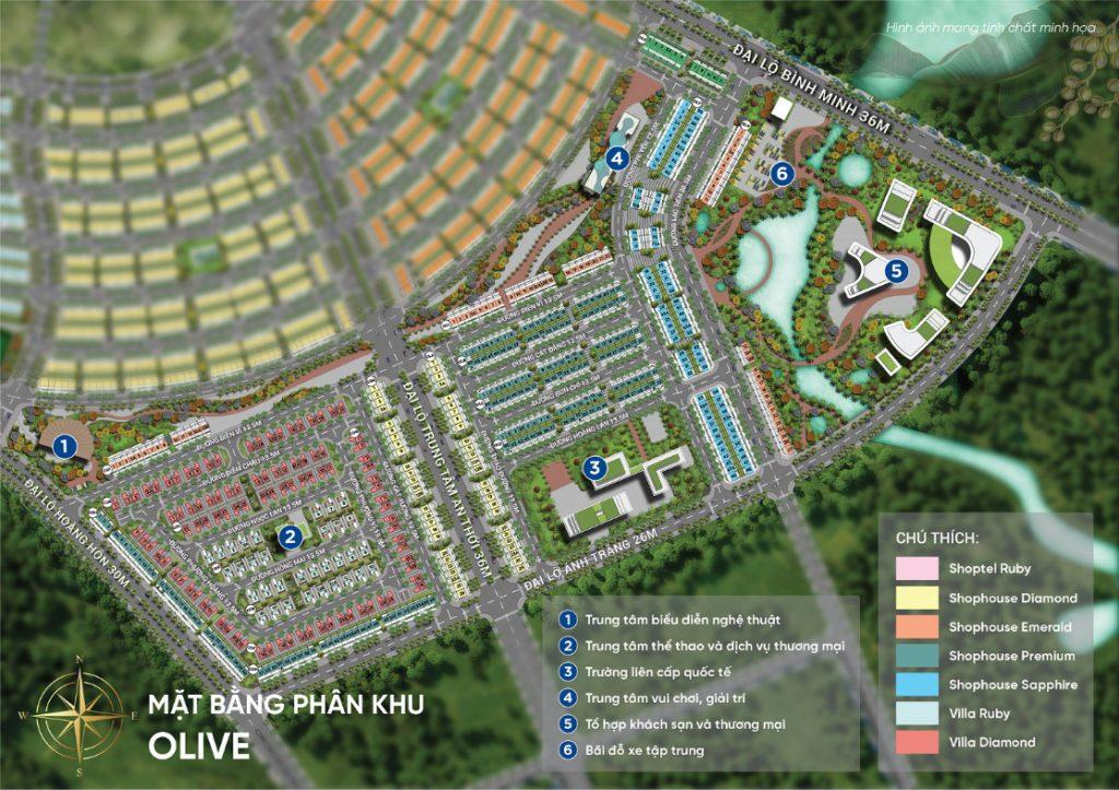 Mặt bằng Olive Meyhomes Capital Phú Quốc