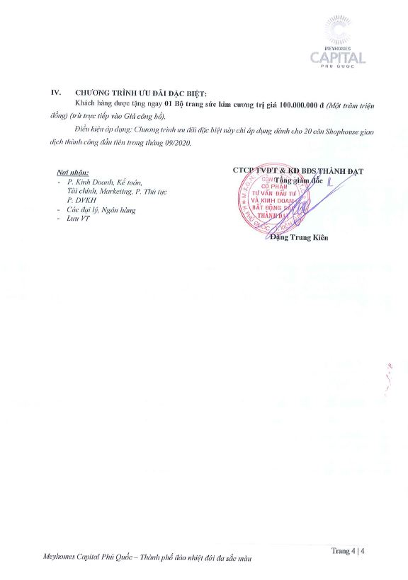 Chính sách bán hàng Meyhomes Capital Phú Quốc từ 5.9.2020 đến 31.10.2020
