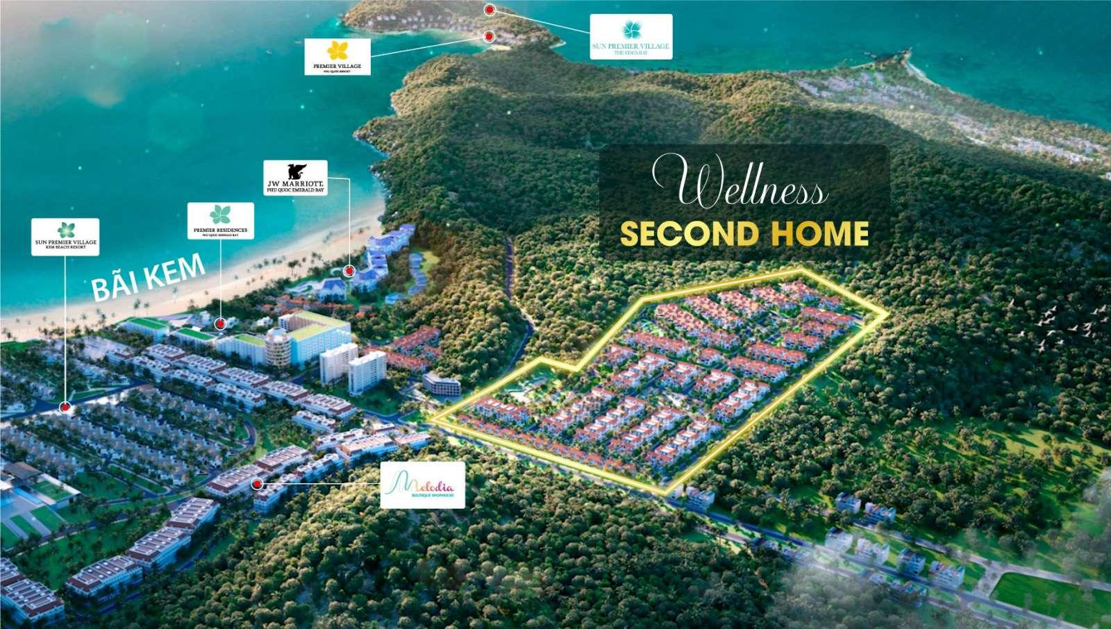 Vị trí biệt thự làng nhiệt đới Sun Tropical Phú Quốc